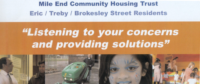 mile end community housing trust page